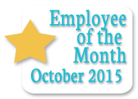 Employee of the Month October 2015